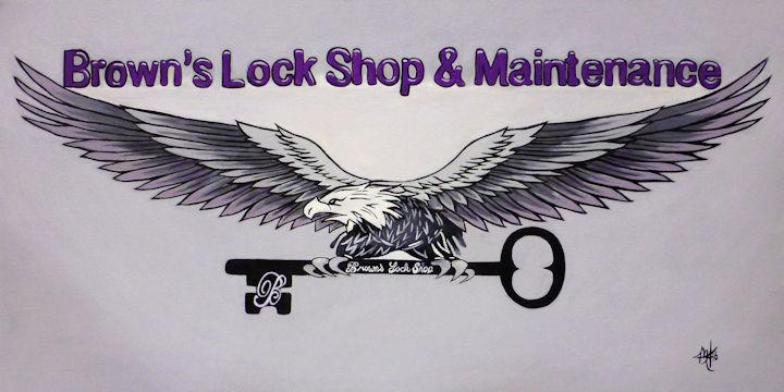 Brown's Lock Shop - 12x24 acrylic