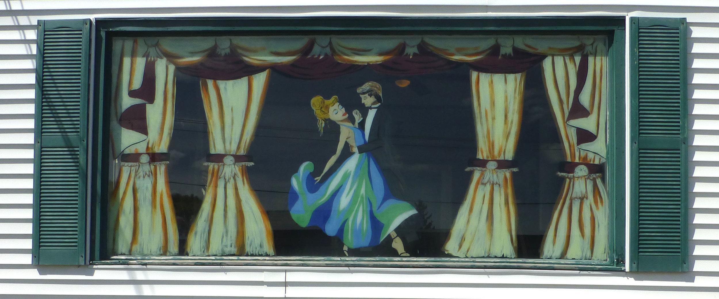 Ballroom Dancers - 11 ft x 5 ft on window