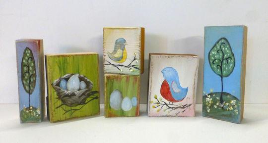 Twisted Tweets Wood Blocks