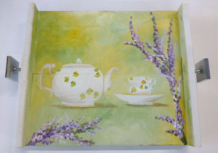 Tea Pot and Cup Tray