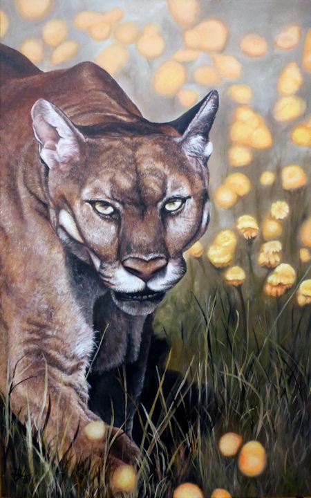 Cougar - 30x48 acrylic