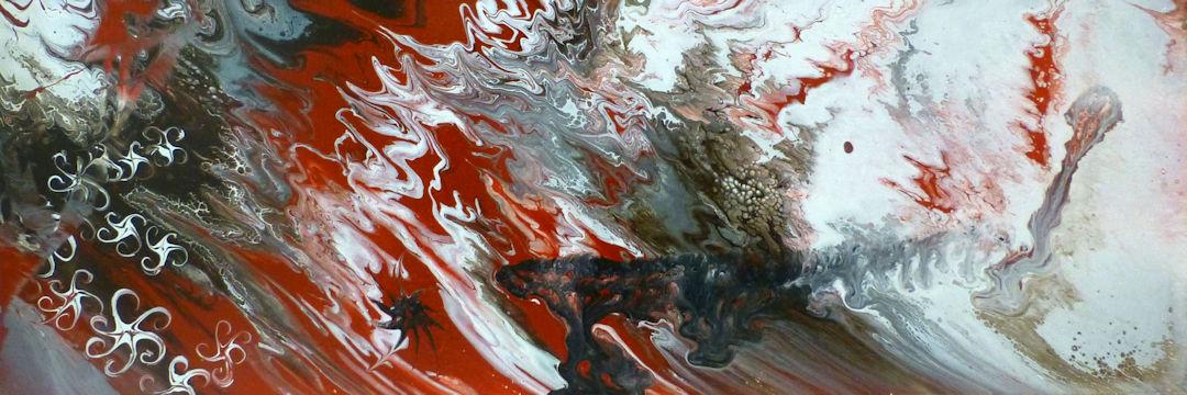 Sienna Abstract - 12x36 acrylic