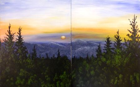 Mount Greylock at Dusk - couples