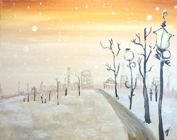 Dreamy Winter City