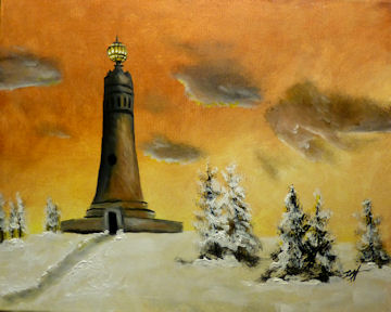 Mt Greylock Monument in Winter