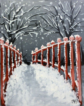 Red Winter Bridge
