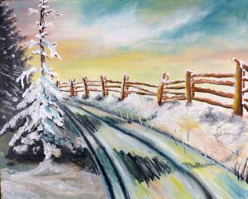 Snowy Winter Fence