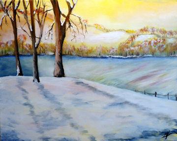 Sunny Snowy Hills