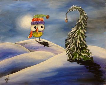Winter Whimsy Owl