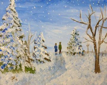 Winter Evergreen Stroll