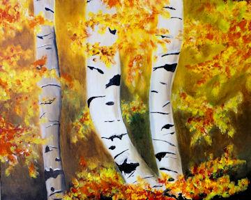 Autumn Birch Trees