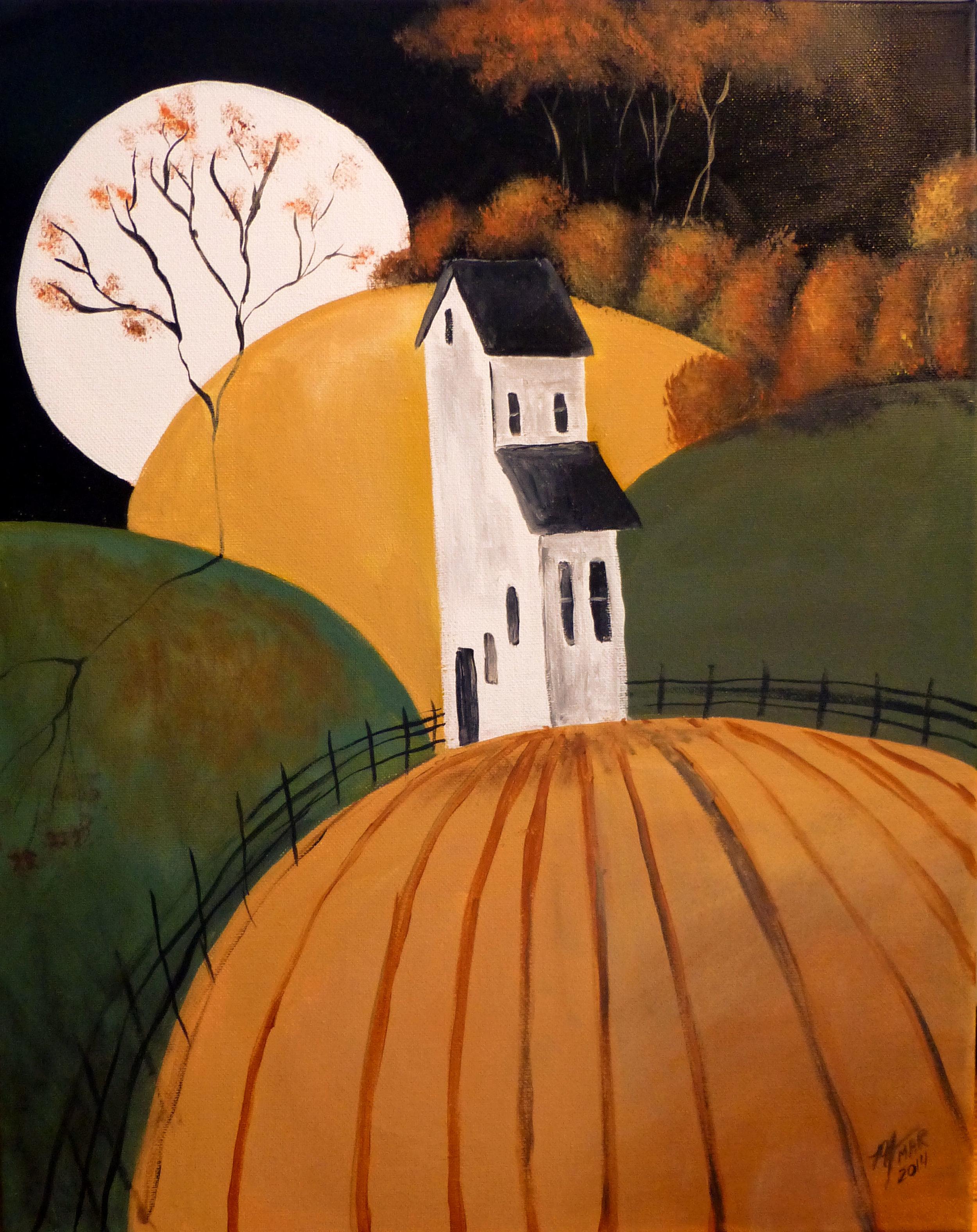 Farm House on Autumn Hills