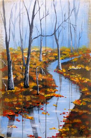 Autumn Stream in the Woods