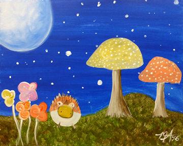 Moonlit Mushroom Fantasy