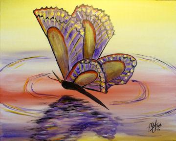 Butterfly Reflection - Purple