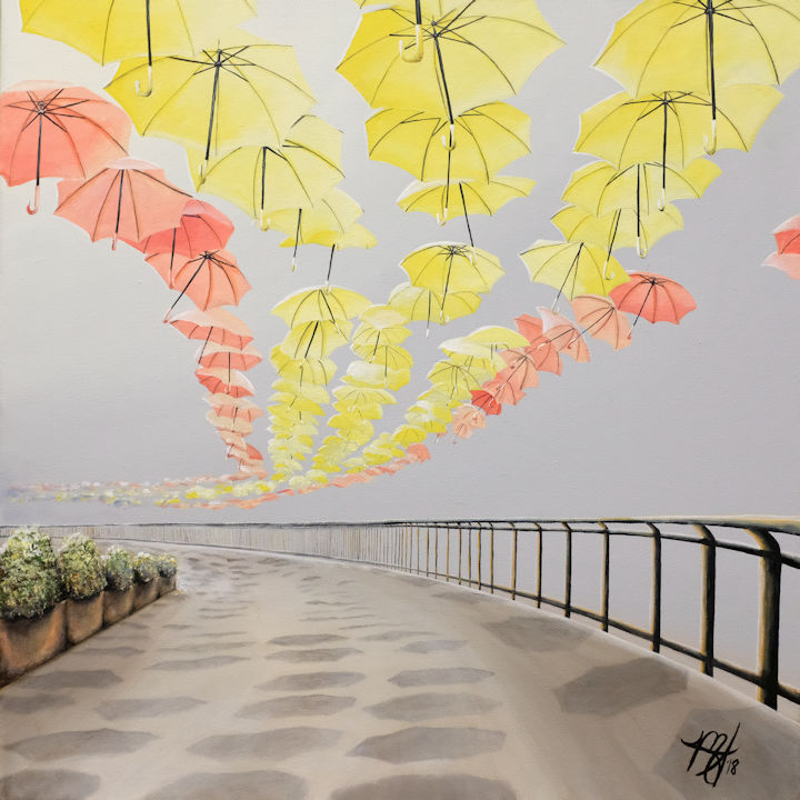 Umbrellas of Torrox Spain - 20x20 - acrylic