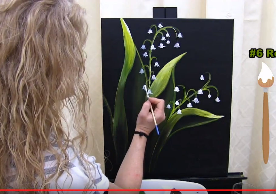 "LEARN TO PAINT ""LILIES OF THE VALLEY"" - Video - Image"