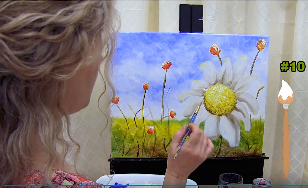 "HOW TO PAINT ""DAZZLING DAISY"" - Video - Image"