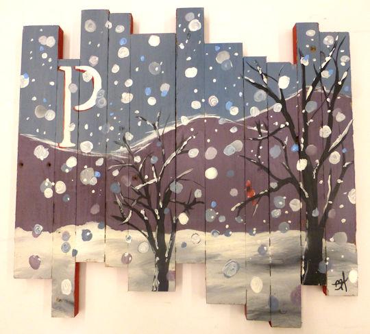 Monogrammed Winter Wonderland