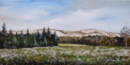 Mount Everett Landscape on 12x24 canvas