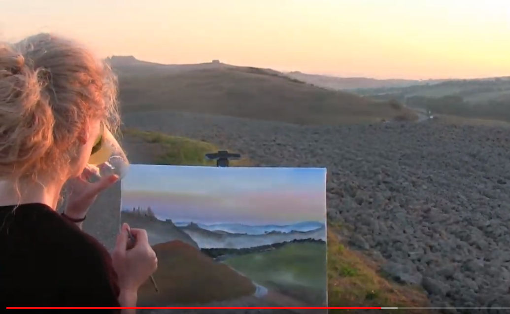 "LEARN TO PAINT ""TUSCAN SUNRISE"" - Video - Image"