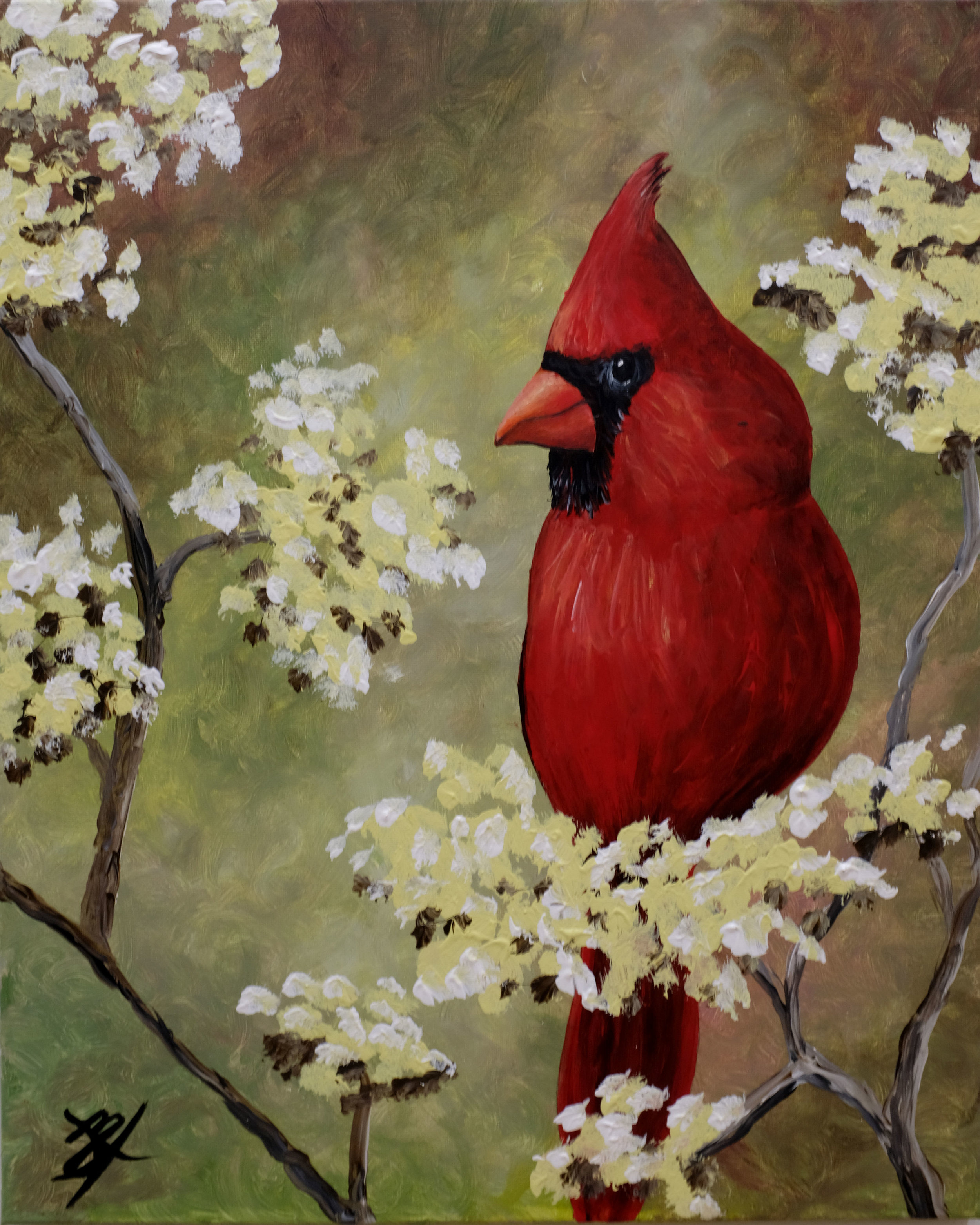 Cardinal in Bloom
