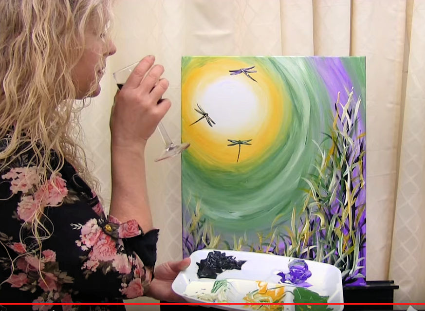 "HOW TO PAINT ""SUNSHINE DRAGONFLIES"" - Video - Image"