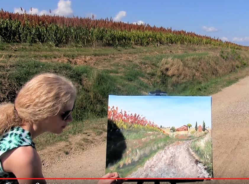 HOW TO PAINT AN ITALIAN FARM HOUSE - Video - Image