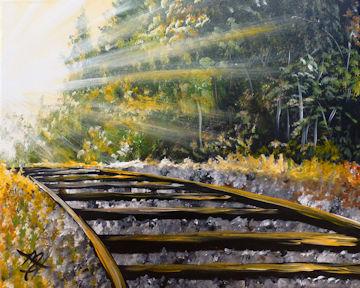 Morning Rise Railroad Track