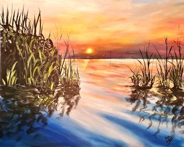 Otis Reservoir Sunset