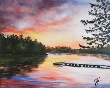 Lake Ashmere Sunset