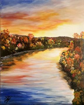 Hoosic River in Autumn