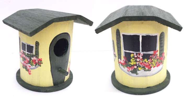 Green and Yellow Finch House