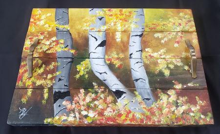 Autumn Birch Tree Tray