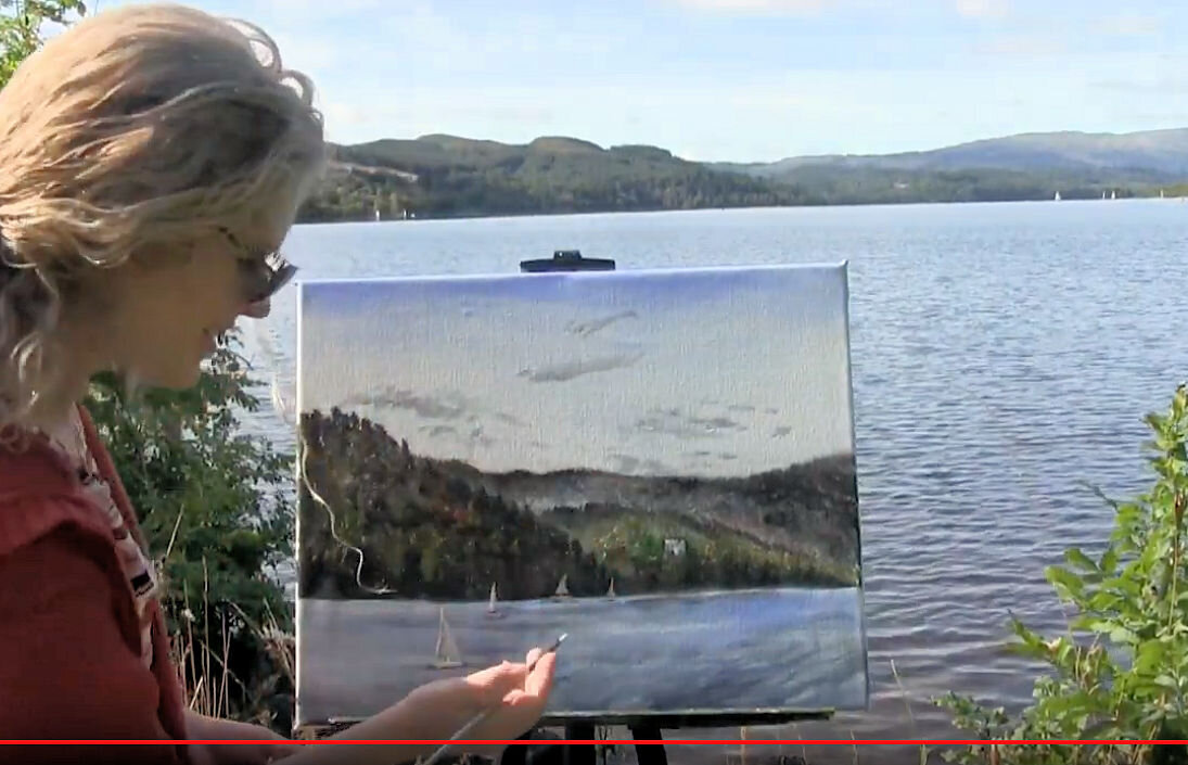 PAINT SAILBOATS IN SCOTLAND - Video - Image