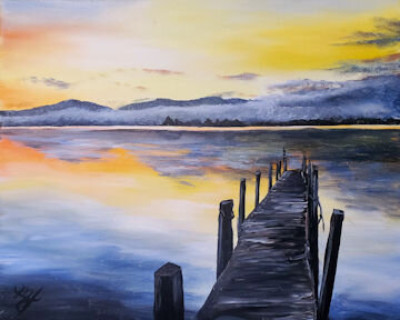 Lake George Dock Sunset