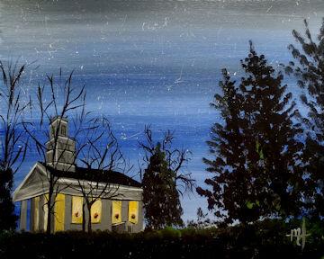 Twilight Tyringham Church