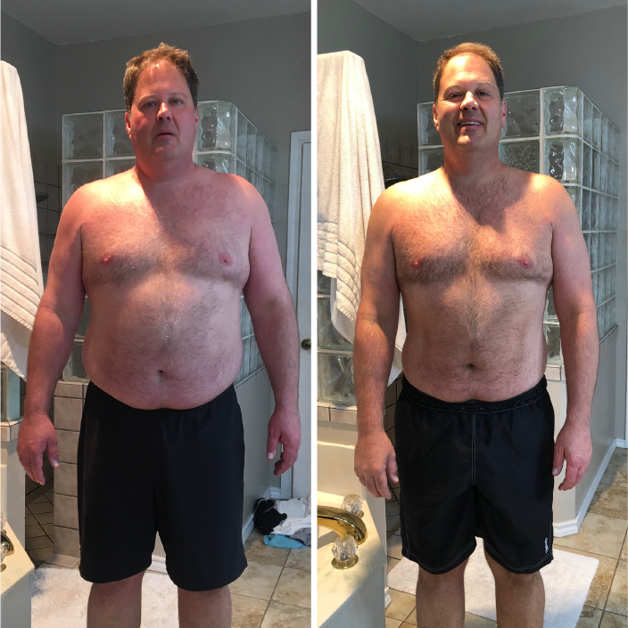 Getting older, often feeling lethargic, I knew a change was needed. With a little push, my sister's partnership, committed workouts and disciplined eating, I am down 50 lbs! I am back in the game and enjoying life with help from Body By Chop. - lonnie g.