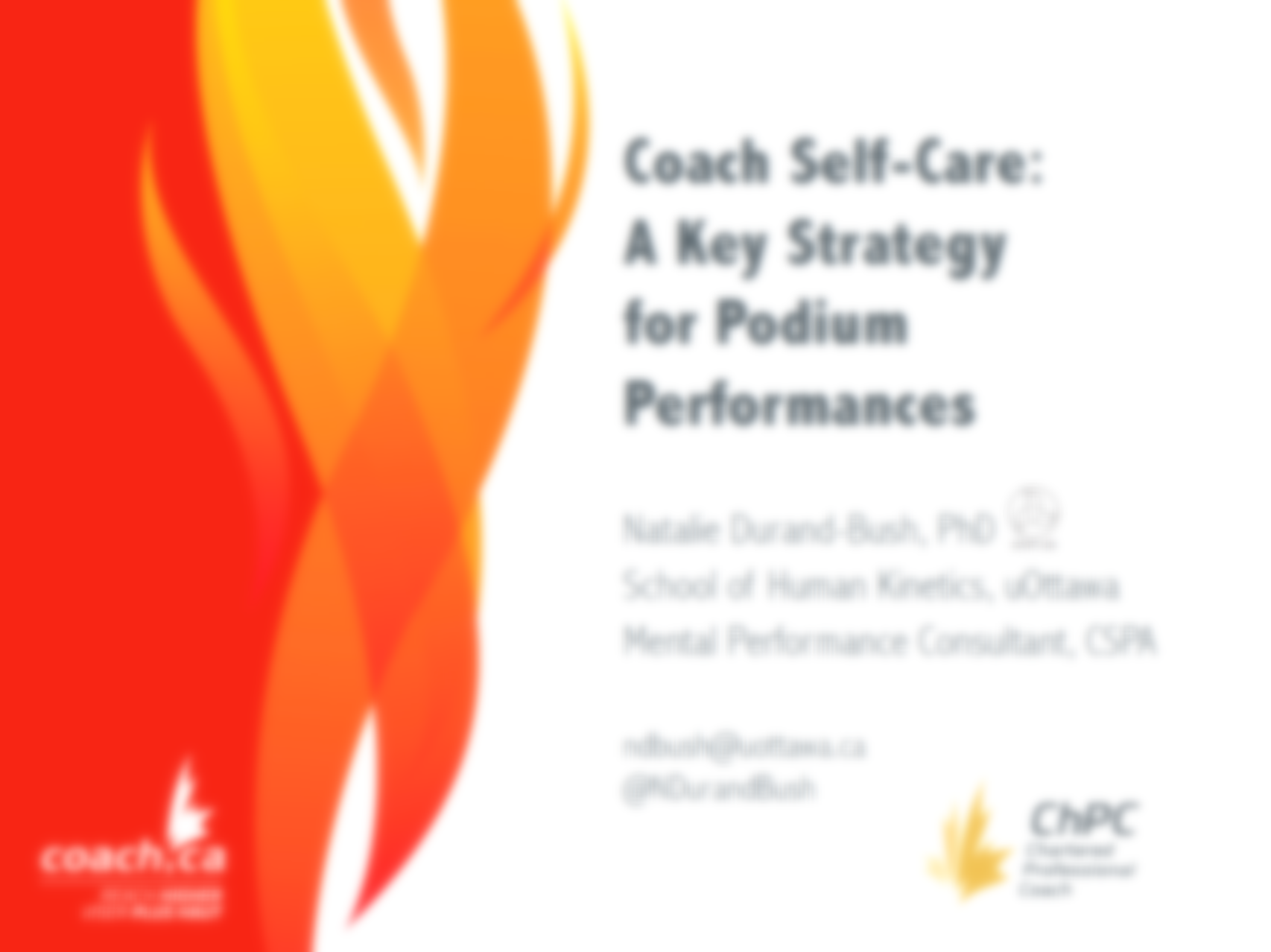 Daily self-care program for coaches