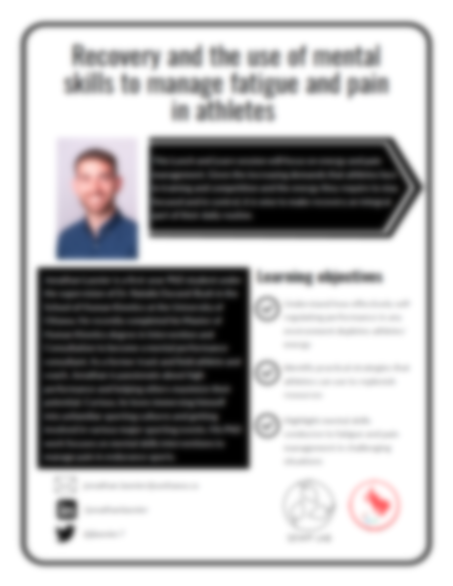Recovery and pain management