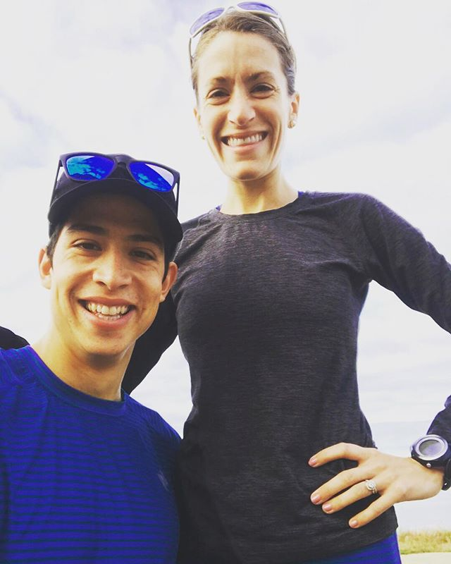 #globalrunningday is the best because most of my running days are spent running with you 😍 I'm so excited @mrsetht will get to see and experience my favorite marathon that holds so many special memories in less than two weeks @grandmasmarathon  #teamtotten #marriage #gmas18 #tapertime #rabbitPRO #spALTRA #embracethespace