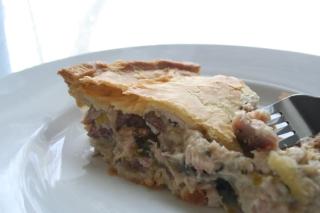 Chicken, Ham & Leek Pie