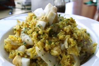 Kedgeree (Smoked Haddock, Basmati Rice, Hard Cooked Eggs, Curry)