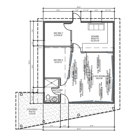 We're expanding! - January 2019, we will be starting construction on a new studio space in Central Austin. With an over 300 square foot live room and two isolation rooms, we'll be able to handle projects of every size. We'll also have a loft, so out of towners have a place to crash. Stay tuned for frequent updates.
