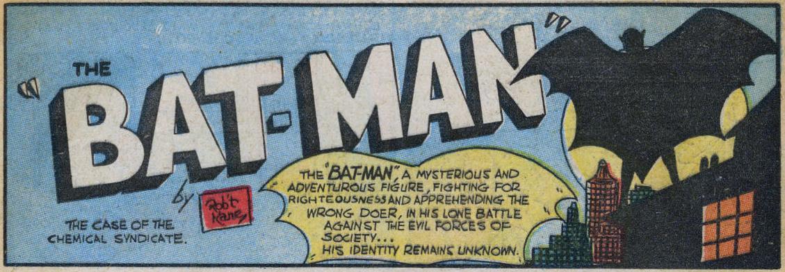Detective Comics #27 (første historie om Batman)