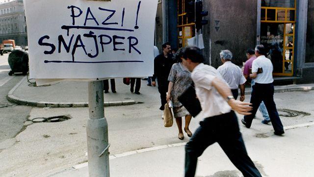 Sniper Alley i Sarajevo under borgerkrigen