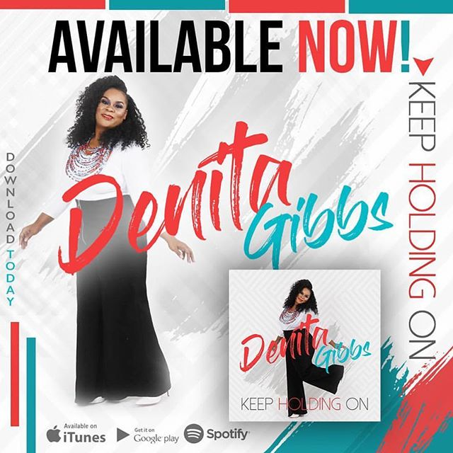 DENITA @denitagibbs SURELY you didn't think I forgot about this AMAZING song, RIGHT??? You all remember the young lady that came to our office and sang for G and I??? Well she joined our @indieblumusic family and has released that VERY song‼️ It's AVAILABLE now‼️ All digital and streaming outlets. #keepholdingon #denitagibbs #denitagibbs #indieblu #eonenashville