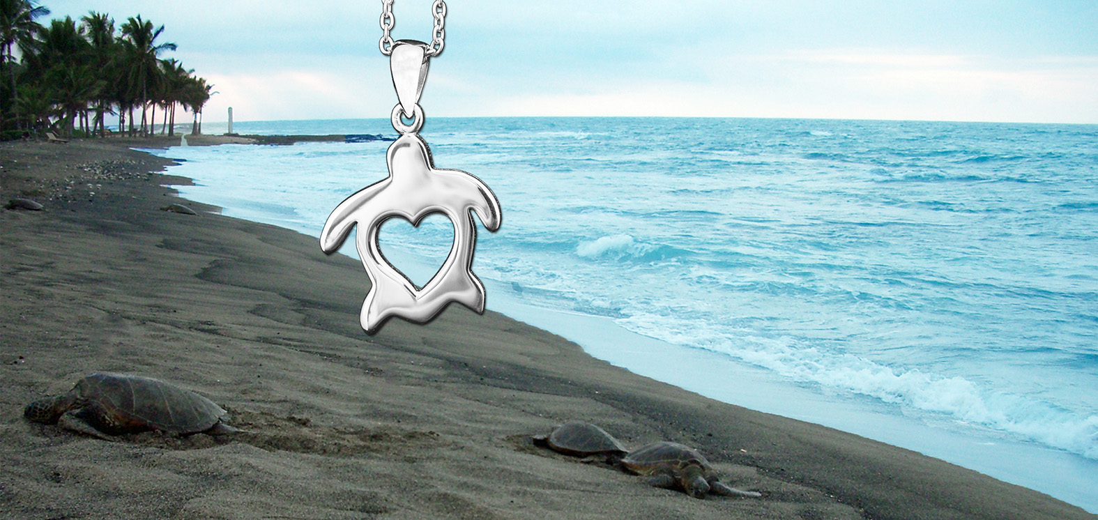 Sterling Silver HonuHeart Necklace