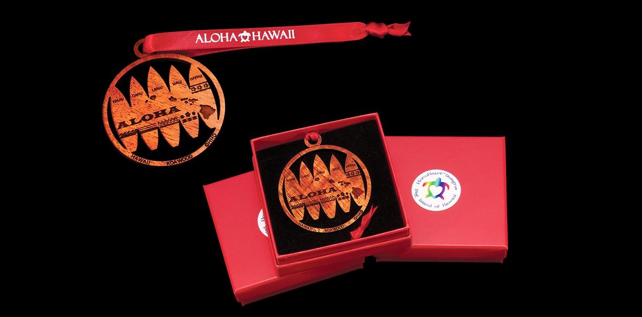 HonuHeart™ Designs Koa Wood Christmas Ornament