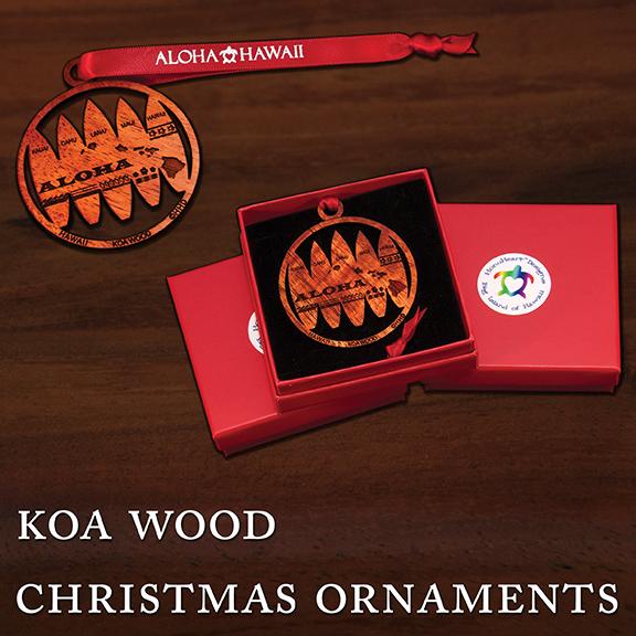Koa Wood Christmas Ornaments